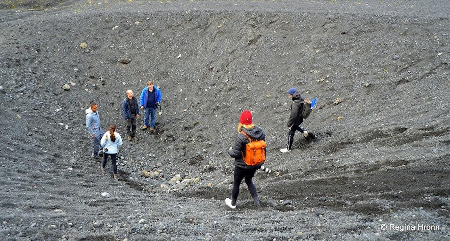 Hiking to Gígjökull glacier South-Iceland