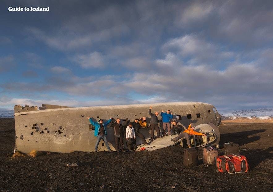 The glacial outwash plain under Katla has no features but for one plane wreckage, that thankfully no one died in.
