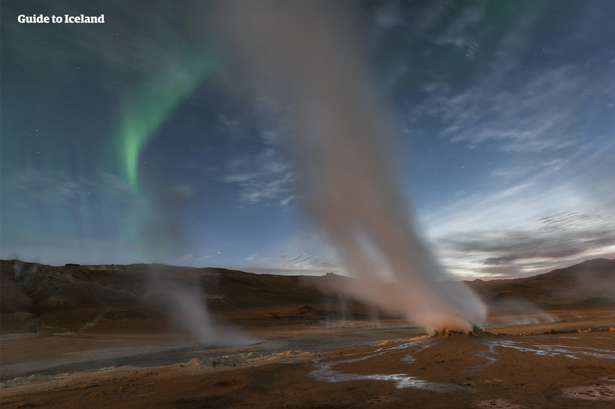 The Myvatn Nature Baths are close to other geothermal sites.