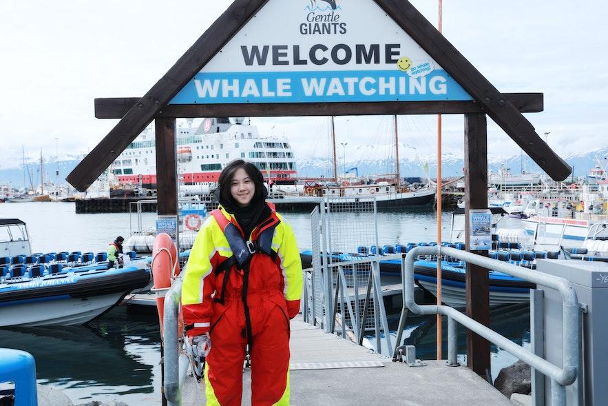 冰島觀鯨快艇裝備