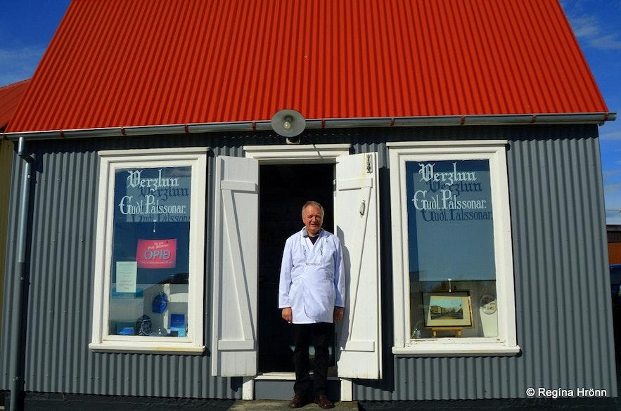 Verslun Guðlaugs Pálssonar - the little old Shop of Guðlaugur Pálsson