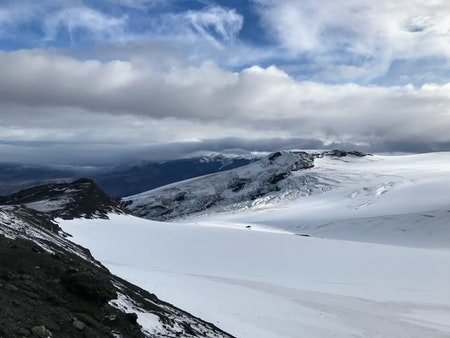 Eyjafjallajökull glacier on Iceland's South Coast.
