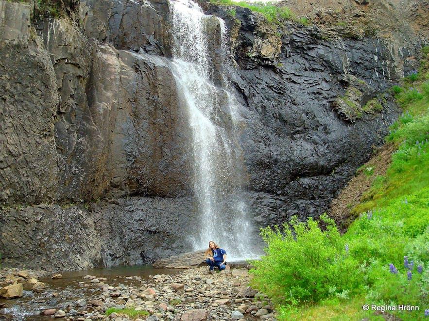Ljósárfoss waterfall in Hallormsstaðaskógur forest