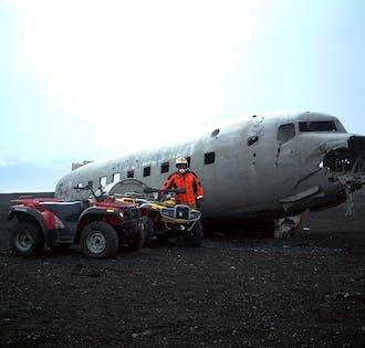 Cascadas de la Costa Sur y excursión en quad a los restos del avión DC3