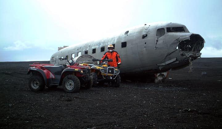 Sydkustens vattenfall och åkning på fyrhjuling till DC3-flygplansvrak