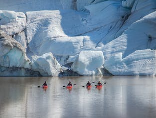 South Coast Kayaking Tour | Waterfalls & Solheimajokull Glacier Lagoon