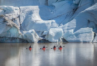 South Coast Kayaking Tour | Waterfalls & Solheimajokull Glacier Lagoon