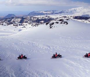 Cascadas de la Costa Sur y motos de nieve en el glaciar Myrdalsjokull | Audioguía en español