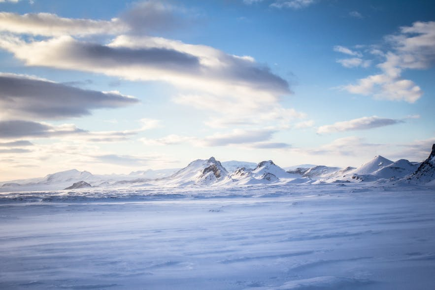 The view from the top of Langjökull glacier.
