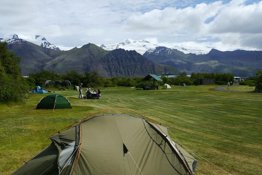 冰島斯卡夫塔山露營營地