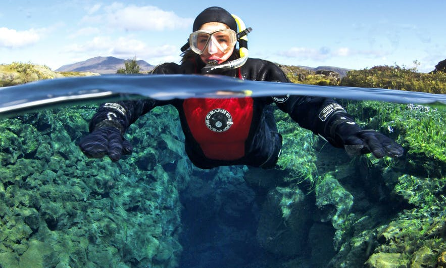 Snorkelling in Silfra Fissure is one of the most popular day tours from the capital.