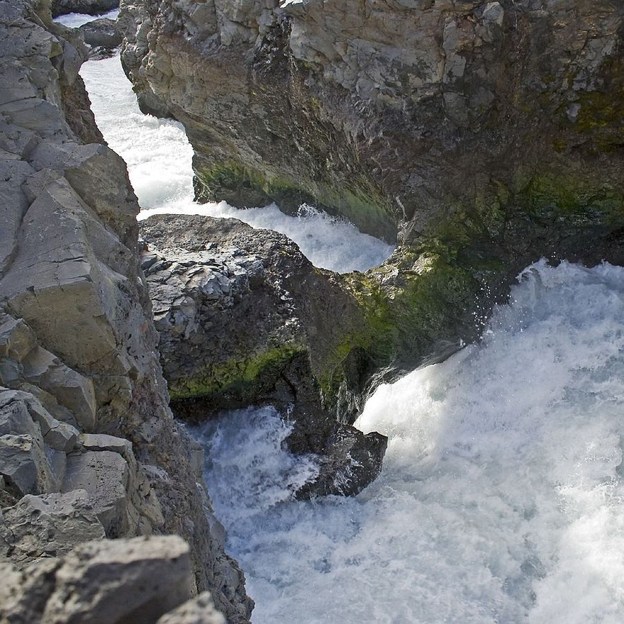 Barnafoss is a site of natural wonder and folklore.