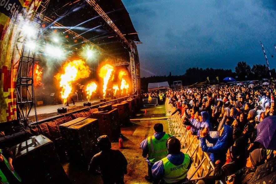 Festiwal Secret Solstice organizowany w Reykjaviku.