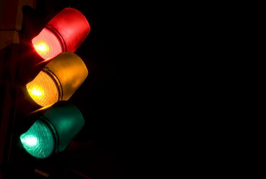 冰島交通燈