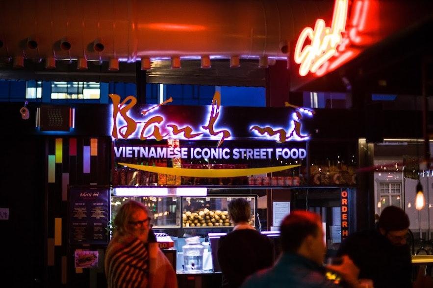 Hlemmur Food Hall has delicious street food!