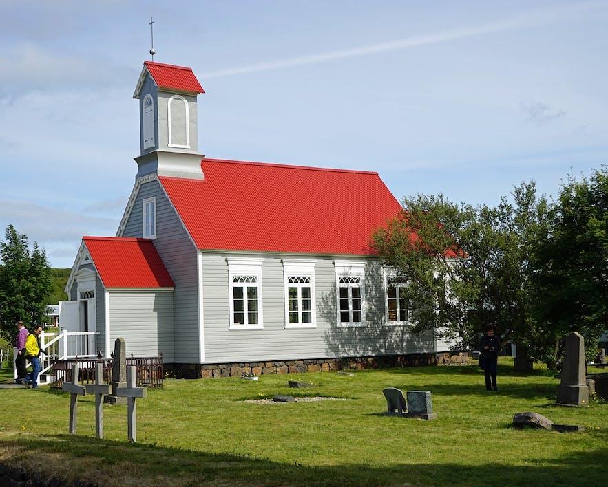 Reykholt was home to Snorri Sturluson, a medieval writer.