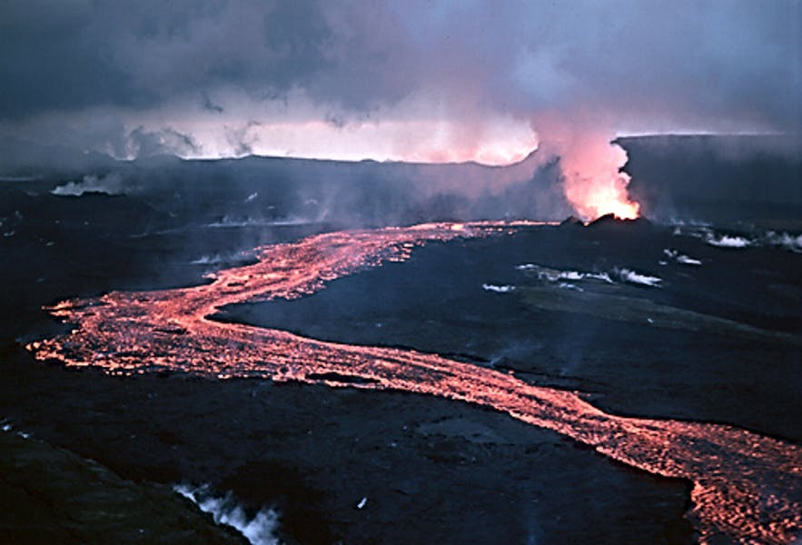 Krafla, in its 1984 eruption.