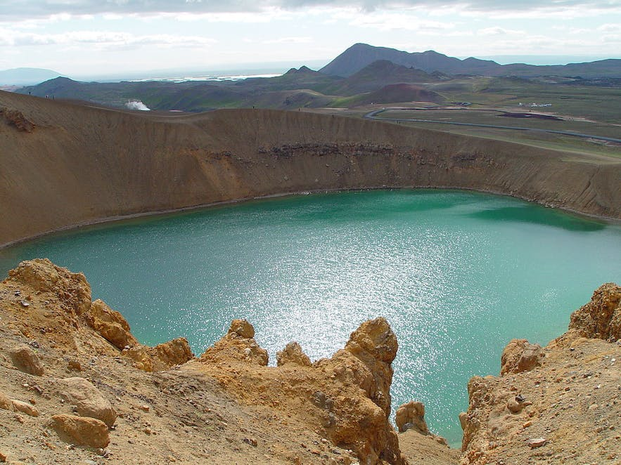 Viti crater, which means 'hell', is located in the Krafla fissure.