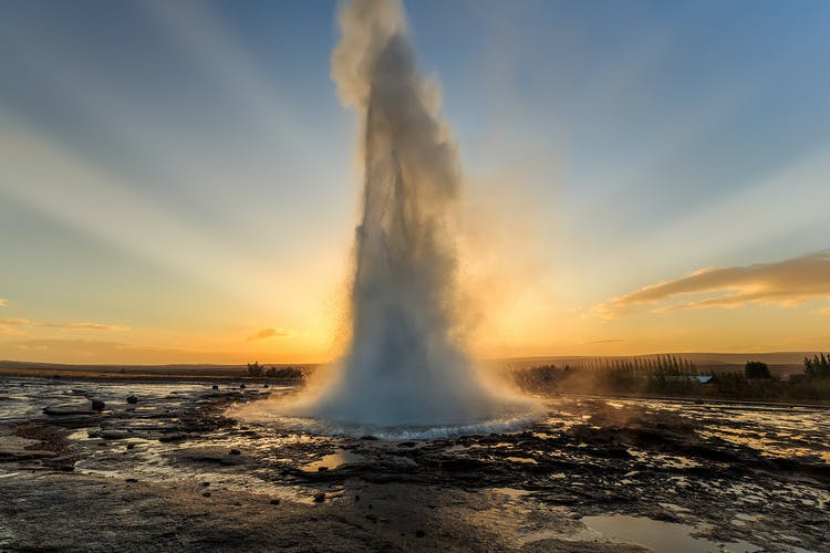 The geyser Strokkur in full eruption mode!
