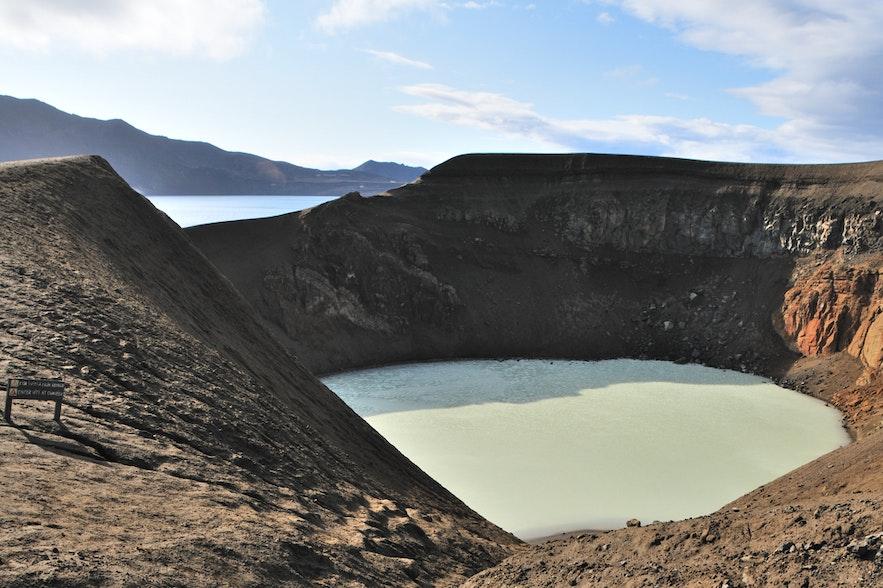 Viti crater lake, within the boundaries of the mighty Askja.
