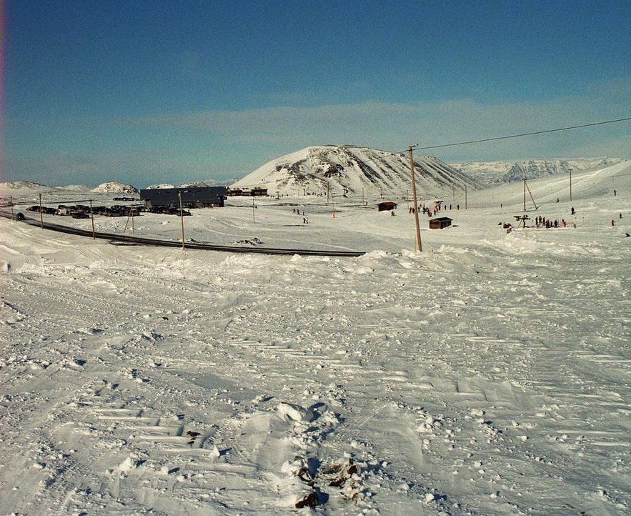 The biggest ski resort in Iceland is in the Blue Mountains.