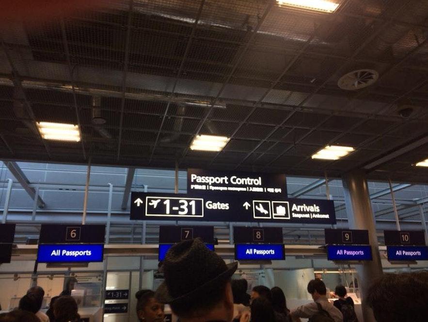 ヘルシンキ空港の入国審査