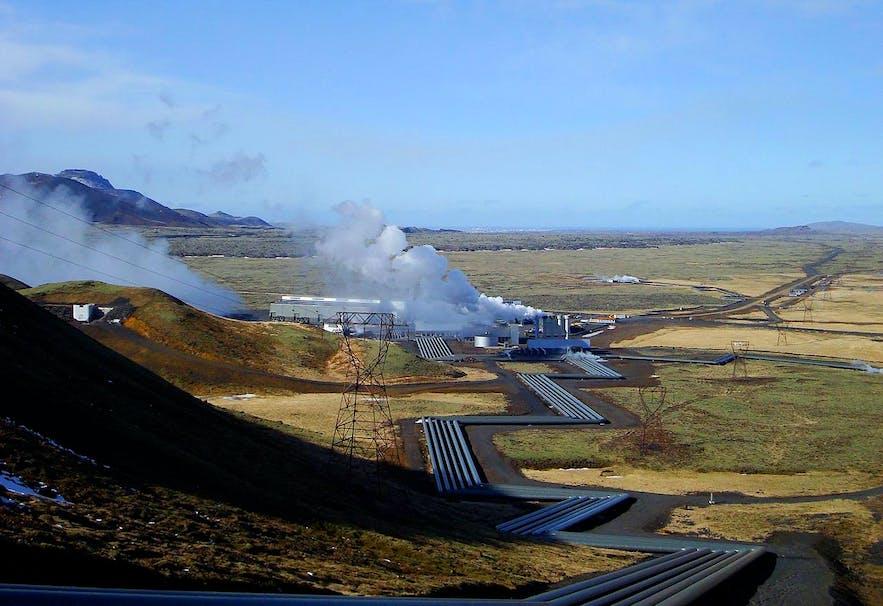 Hellisheiðarvirkjun is the third largest geothermal plant in the world.
