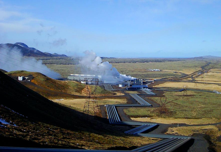 Elektrownia geotermalna na Islandii.