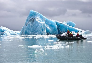 Zodiac Boat Tour on Jokulsarlon Glacier Lagoon | Meet on Location