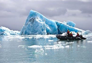 Zodiac Boat Tour on Jokulsarlon Glacier Lagoon | Meet on Location