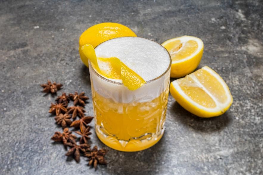 Delicious citrus cocktail at Sumac in Reykjavik