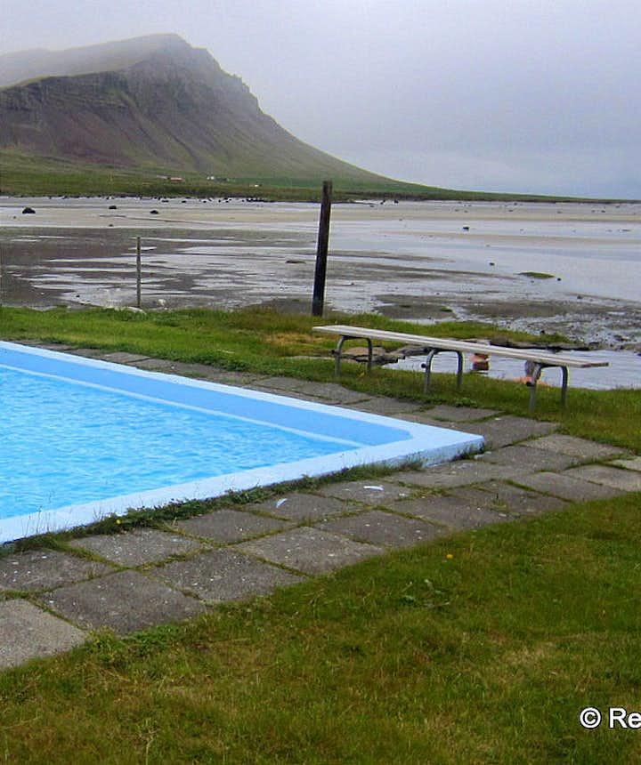 Swimming pool on Laugarnes by Birkimelur on Barðaströnd