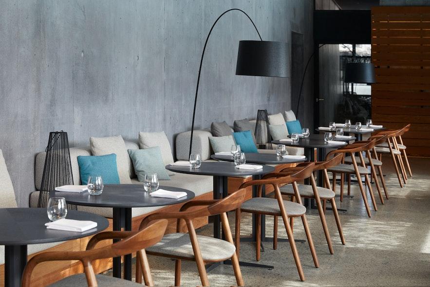 Härlig utsikt från lyxiga och läckra Moss Restaurant.
