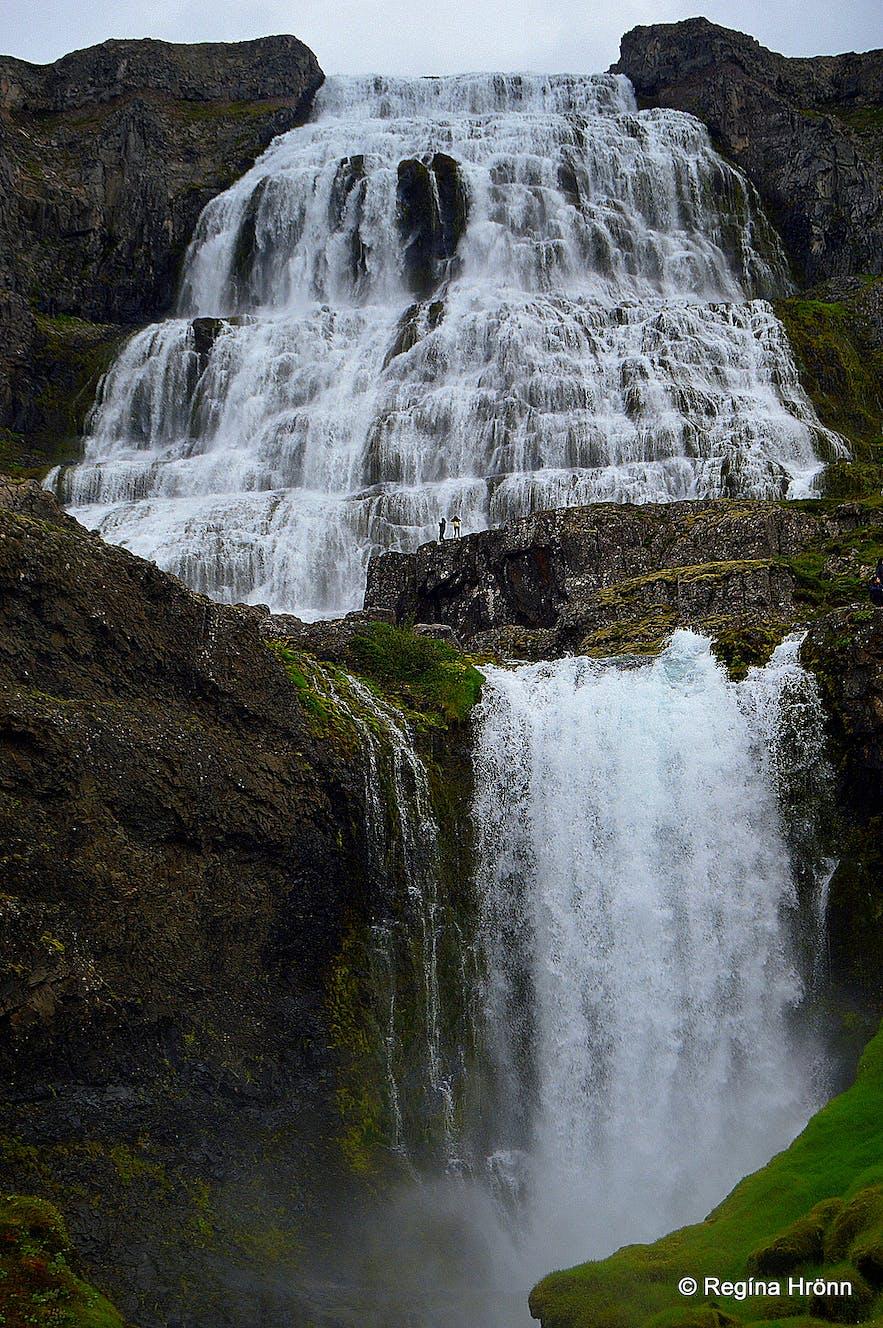 Dynjandi falls to a near perfect 100 metres.