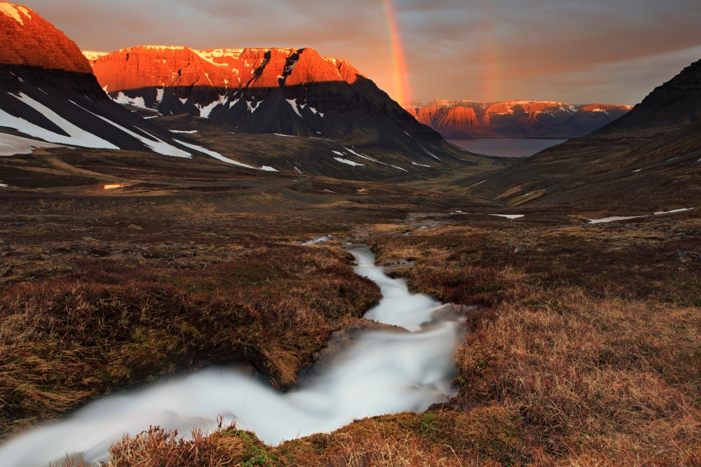 The Westfjords are characterised by deep inlets and steep mountainsides.