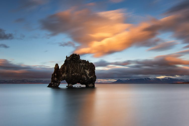 Hvítserkur rock stack is often said to look like a rocky elephant rising from the sea.