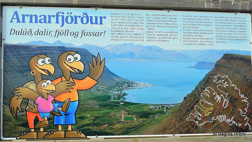 Arnarfjörður information sign