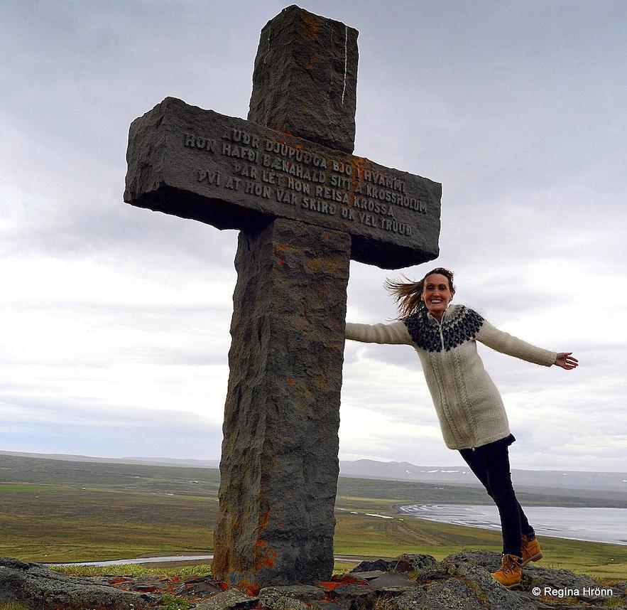 Krosshólaborg í Dölum West-Iceland - the stone cross