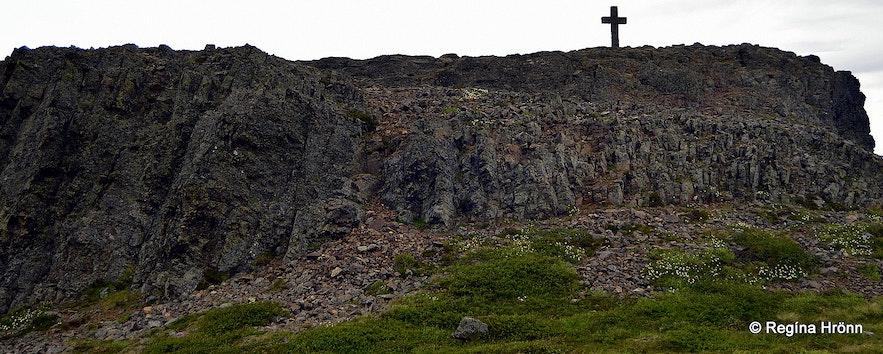 Krosshólaborg stone cross West-Iceland