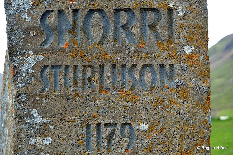 The Snorri Sturluson monument Hvammur í Dölum