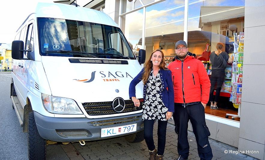 Regína with Ármann from Imagine Travel Iceland
