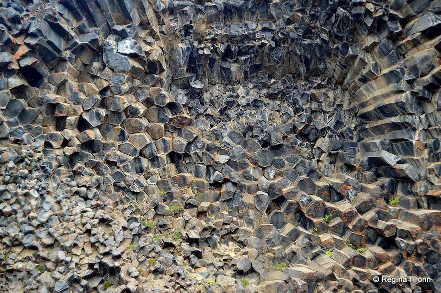 Basalt columns in Hljóðaklettar Jökulsárglúfur canyon