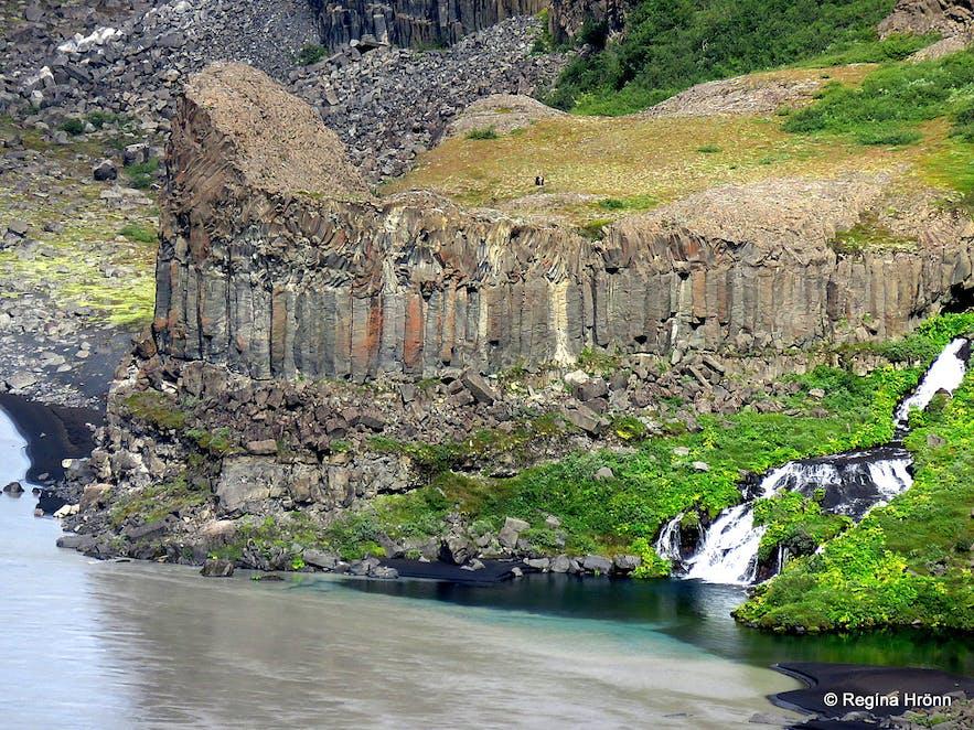 Basalt columns by Jökulsá á Fjöllum