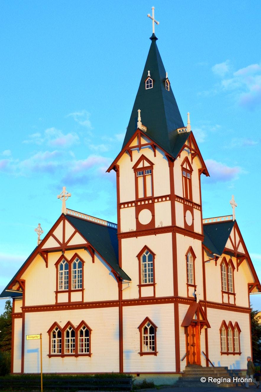 The Húsavíkurkirkja church in Húsavík