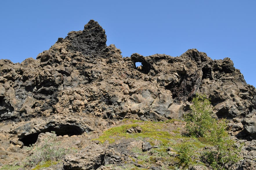 Dimmuborgir, said in Nordic folklore to lead to the catacombs of hell.