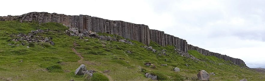 Gerduberg is a cliff with incredible geological formations defining it.