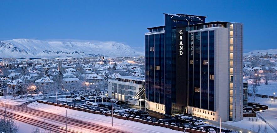 Grand Hotel w Reykjaviku jest jednym z najczęściej wybieranych miejsc przez podróżujących biznesowo.