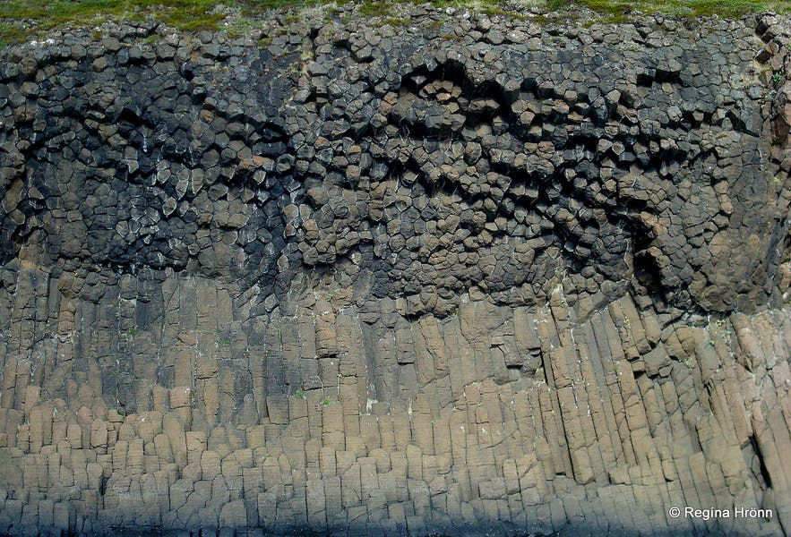 Basalt columns in the Breiðafjarðareyjar islands