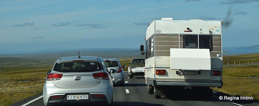 Traffic at Fiskidagurinn mikli Dalvík