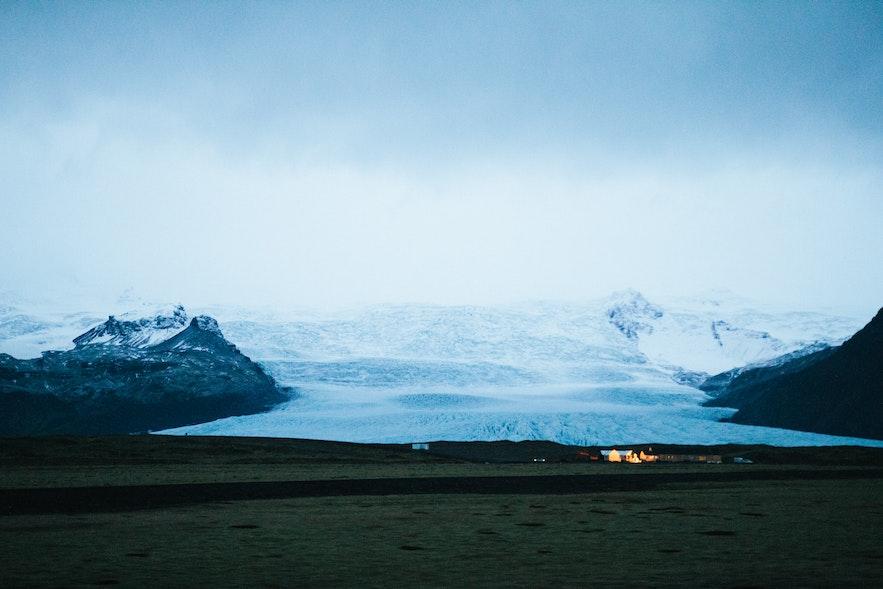 冰島冰川冰舌